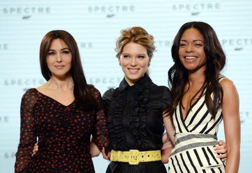 Die Girls im neuen Bond-Streifen: Monica Belluci, Lea Seydoux und Naomie Harris (von links). (Bild: Keystone)