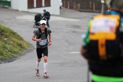 Siegerin des Marathons ist Franziska Inauen. (Bild: Roger Zbinden (Neue LZ))