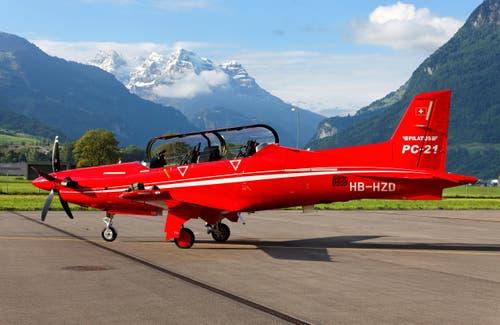 Das Bild zeigt den PC-21 der Pilatus Aircraft Ldt. in Stans. (Bild: PILATUS AIRCRAFT / E.T. STUDHALT)