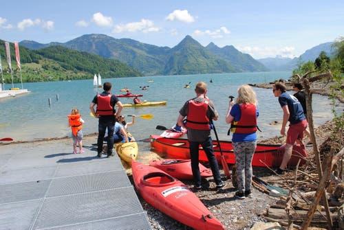 Einweihung Wassersportzentrum Buochs am 10. Mai 2015. Impressionen vom Eröffnungsfest. (Bild: Rosmarie Berlinger)