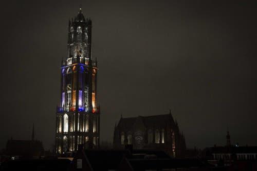 Der Turm des Doms von Utrecht. (Bild: EPA/Jeroen Jumelet)