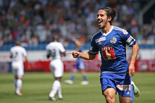 Luzerns Jahmir Hyka glich in der 18. Minute für den FC Luzern aus. (Bild: Philipp Schmidli)