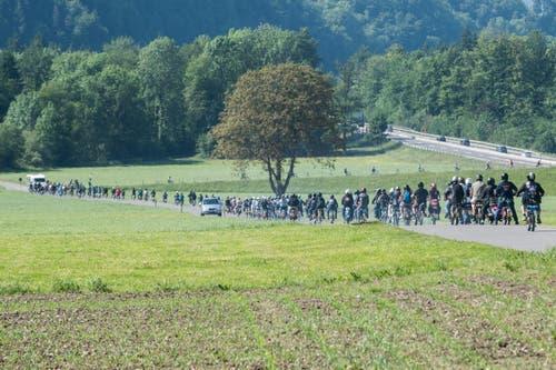 Der Töffliclub Kolbenhobler Innerschweiz hatte zur Rundfahrt geladen. (Bild: Boris Bürgisser (LZ))