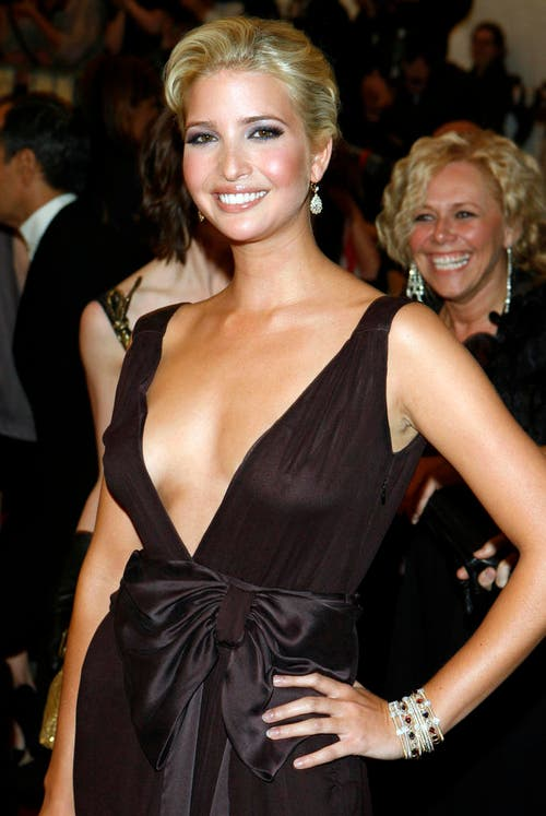 Ivanka Trump an der Met-Gala in New York, am 1. Mai 2006. (Bild: Keystone)