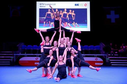 Der BTV Luzern an den Aerobic Schweizermeisterschaften (Bild: Philipp Schmidli)