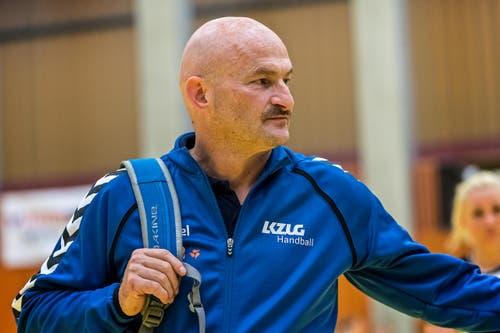 Der Zuger Trainer Damian Gwerder. (Bild: Christian H.Hildebrand / ZZ)