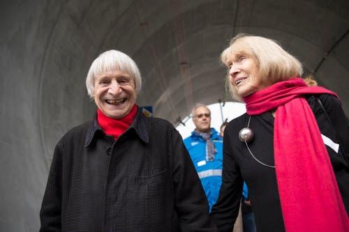 Dimitri und seine Frau Gunda besuchten im März 2016 die Sonderausstellung «Neat - Tor zum Süden» im Verkehrshaus in Luzern. (Bild: Keystone / Dominik Baur)