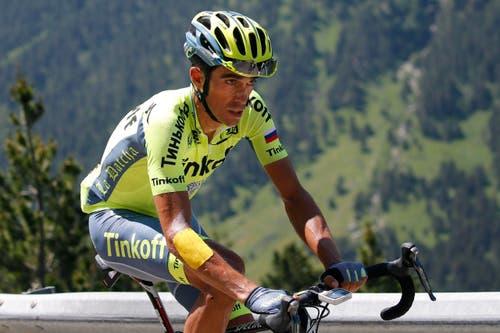 ... und der zweimalige Tour-de-France-Sieger Alberto Contador aus Spanien die Spiele verletzungsbedingt. (Bild: AP / Christophe Ena)