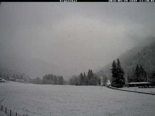 Und auch in Eigenthal erstreckt sich eine weisse Winterlandschaft. (Bild: www.eigenthal.ch)