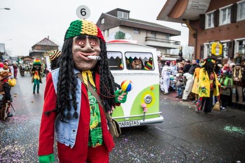 MARASTAS (Jamaika-Hippie Bus). (Bild: Manuela Jans-Koch)