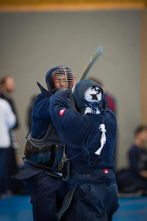 41. KENDO Schweizermeisterschaft in der Turnhalle Utenberg in Luzern: Kendo ist eine traditionelle japanische Schwertkampfkunst. (Bild: Roger Grütter/Neue LZ)