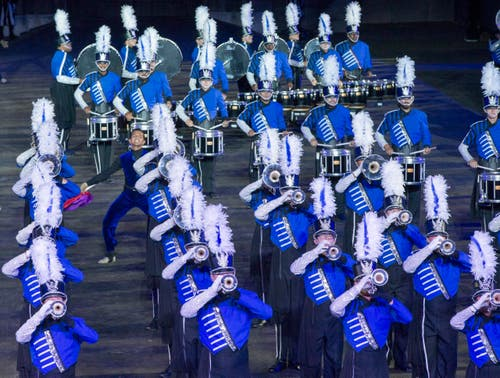 The Blue Devils International Corps aus Amerika. (Bild: Keystone / Patrick Staub)