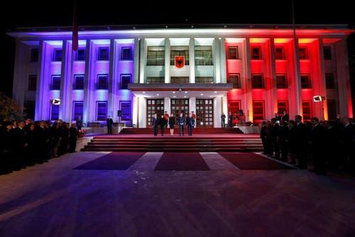 Der Sitz des Staatspräsidenten in Tirana (Aalbanien). (Bild: EPA/ARMANDO BABANI)