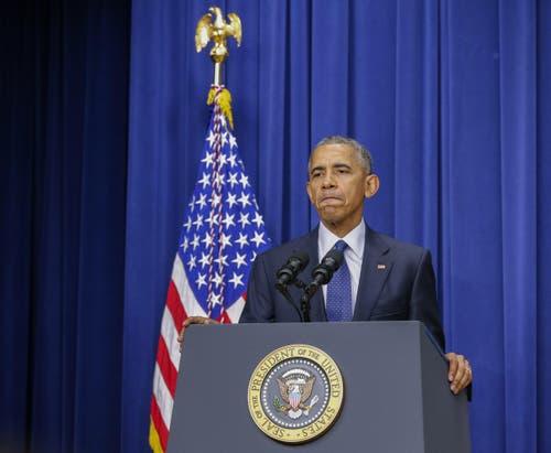Nach der Attacke in München hat US-Präsident Barack Obama Deutschland seine Unterstützung zugesagt. (Bild: Keystone/Erik S. Lesser)