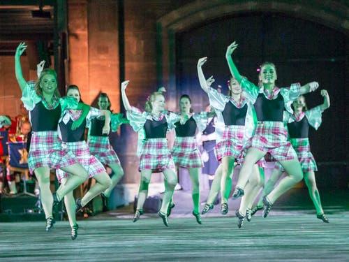 Die Ailsa Highland Tänzer aus Schottland. (Bild: Keystone / Patrick Staub)