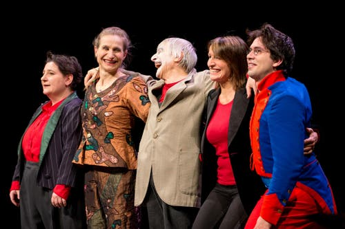 Die Famiglia Dimitri beim Auftritt im KKL Luzern am 28. Februar 2015. (Bild: Philipp Schmidli)