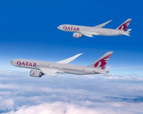Boeing-Flugzeuge von Qatar Airways. (Bild: BOEING / HO)