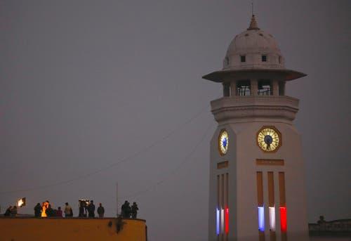 Der Ghantaghar Clock Tower in Kathmandu. (Bild: EPA/NARENDRA SHRESTHA)