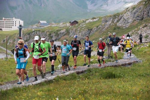 Am Samstag 25. Juli fand der sechste Mountainman auf der Melchsee-Frutt bei Obwalden statt. (Bild: Roger Zbinden (Neue LZ))