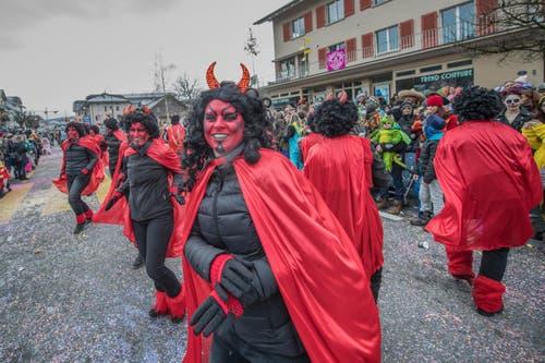 Auf dem Bild zu sehen sind sind der MSV Dagmersellen und der Fit Treff Dagmersellen mit «Im Himmel ist die Hölle los». (Bild: Pius Amrein)
