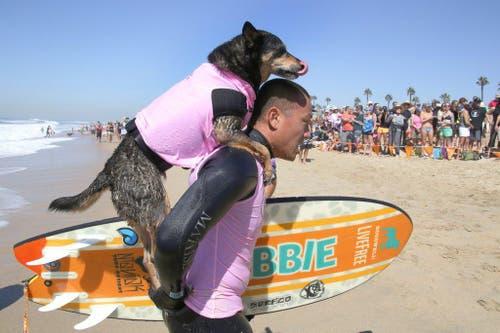 Zum achten Mal wurde der Wettkampf am Strand von Huntington Beach in Kalifornien veranstaltet. (Bild: Keystone)