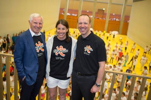 Als Botschafterin anwesend: Ex-Skirennfahrerin Dominique Gisin. (Bild: Photopress / Maria Schmid)