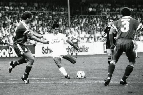 Technisch gesehen war Hugo Rubio vermutlich der beste und kompletteste Spieler, der jemals für den FC St.Gallen im Einsatz war. (Bild: Archiv/St.Galler Tagblatt)