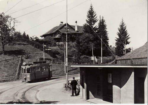 Endstation im Riethüsli (1943) (Bild: Stadtarchiv der Ortsbürgergemeinde St.Gallen)
