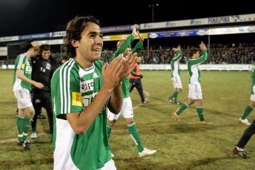 Marcos Gelabert verliess den FC St.Gallen ebenfalls nach der Abstiegssaison 2007/2008. Es zog ihn zum FC Basel, der für den zentralen Mittelfeldakteur 440'000 Franken in die Ostschweiz überwies. (Bild: Ennio Leanza)