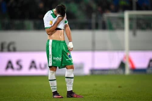 Ein enttäuschter Albian Ajeti von St.Gallen. (Bild: Keystone)