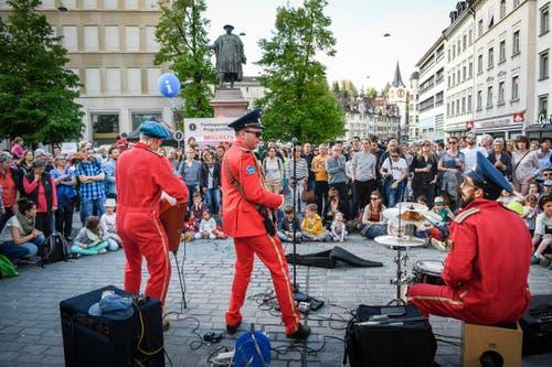 St. Gallen - Aufgetischt mit 80 Künstlern Im Bild Cosmonautix (Bild: Ralph Ribi)