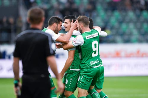 Das erste Tor erzielte Danijel Aleksic. (Bild: Ralph Ribi)