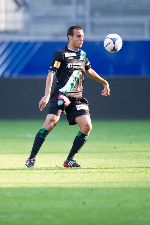 Auch Marco Franin durfte im Herbst 2013 einige Minuten Europa-League-Luft schnuppern. Mittlerweile spielt er für den SC Brühl in der Promotion League. (Bild: Urs Jaudas)