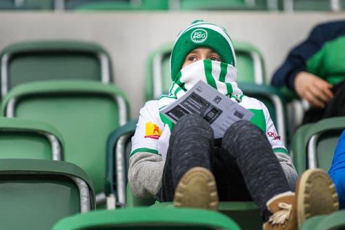 Während des Spiels sank das Thermometer weit unter den Gefrierpunkt. (Bild: Michel Canonica)