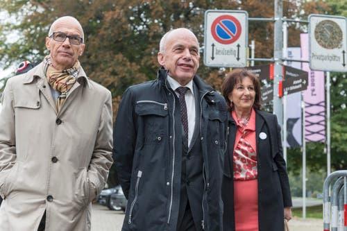 St.Gallens Stadtpräsident Thomas Scheitlin mit Bundesrat Ueli Maurer. (Bild: Hanspeter Schiess)