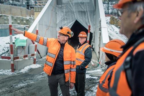 Michel Canonica / Tagblatt Tunnelrundgang an der Ruckhalde Bauleiter Thomas Looser (Bild: Michel Canonica)