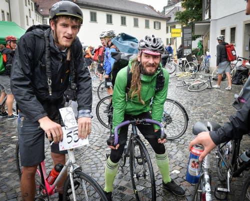 St. Gallen - Velokurierrennen Hauptrennen Mainrace Velokuriere fahren durch die Altstadt (Bild: Ralph Ribi)