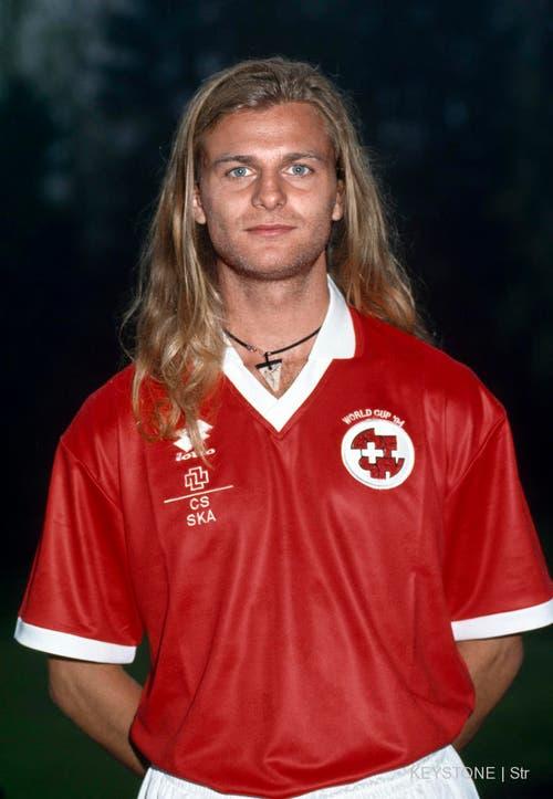 Grösster Erfolg: Alain Sutter nimmt 1994 mit der Schweiz an der WM in den USA teil. (Bild: Keystone)