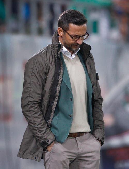 """1. April 2017, FCSG - Basel 0:3: """"Wir haben es dem Gegner bei den Toren zu einfach gemacht. Es ist uns eine Lehre. [...] Darüber habe ich mich auch gewundert. Zuletzt verhielten wir uns bei Standards immer gut. Nun aber haben wir geschlafen."""" (Bild: EDDY RISCH (KEYSTONE))"""
