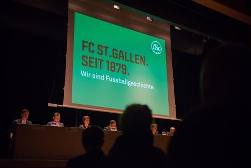 Generalversammlung des FC St.Gallen im Fürstenlandsaal in Gossau (Bild: Samuel Schalch)