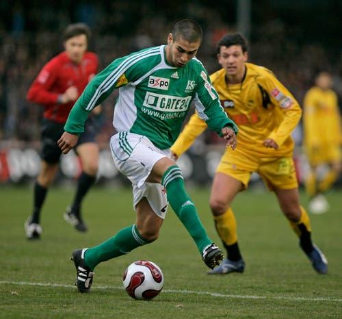 Der Argentinier Jesús Méndez trug nur während einer Saison das Trikot des FC St.Gallen und kehrte im Sommer 2008 in seine Heimat zu CA Rosario zurück. Ablösesumme: 600'000 Franken. (Bild: Michel Canonica)