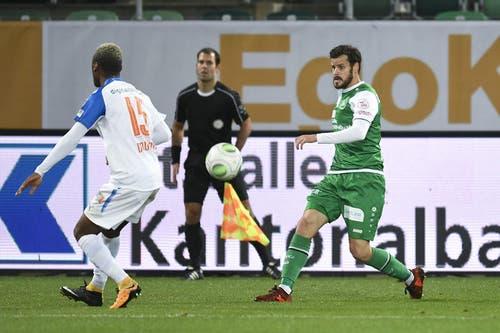 Tranquillo Barnetta wurde in der zweiten Halbzeit eingewechselt. (Bild: Ralph Ribi)
