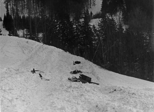 Die «Flying Fortress» zerschellte am 16. März 1944 nur 400 Meter neben der katholischen Kirche in Wildhaus. (Bild: PD)