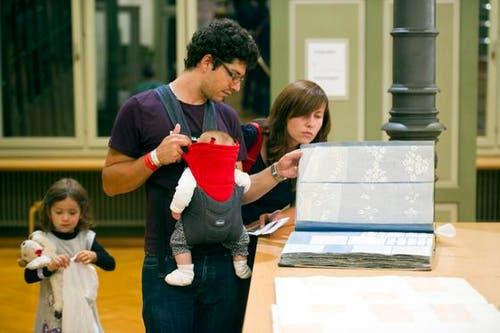 Auch für die Kleinen war die Museumsnacht spannend. (Bild: Michel Canonica)