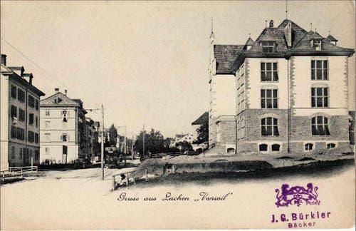 Tramstation beim Schulhaus Schönenwegen (Bild: Stadtarchiv der Ortsbürgergemeinde St.Gallen)