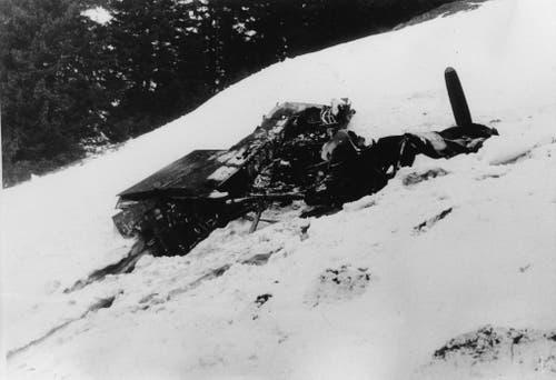 Der letzte Flug der Avro Lancaster endet am 28. April 1944 auf der Alp Gräppelen im Obertoggenburg. (Bild: PD)