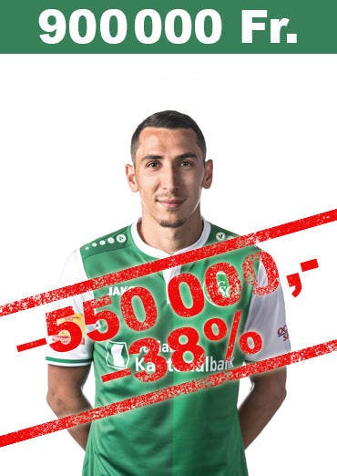 Verliert wie Barnetta über eine halbe Million an Wert: Yanis Tafer neu 900'000 Franken Marktwert. (Bild: pd)