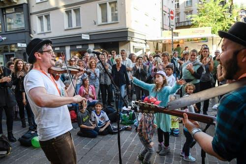 St. Gallen - Aufgetischt mit 80 Künstlern Im Bild The Peoples's String Foundation (Bild: Ralph Ribi)