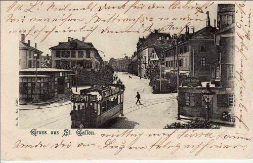 Die ehemalige Tramstation Schibenertor. (Bild: Stadtarchiv der Ortsbürgergemeinde St.Gallen)
