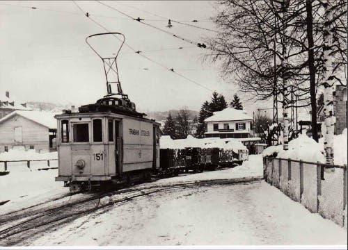 Das Tramdepot im Museumsquartier (1944) (Bild: Stadtarchiv der Ortsbürgergemeinde St.Gallen)